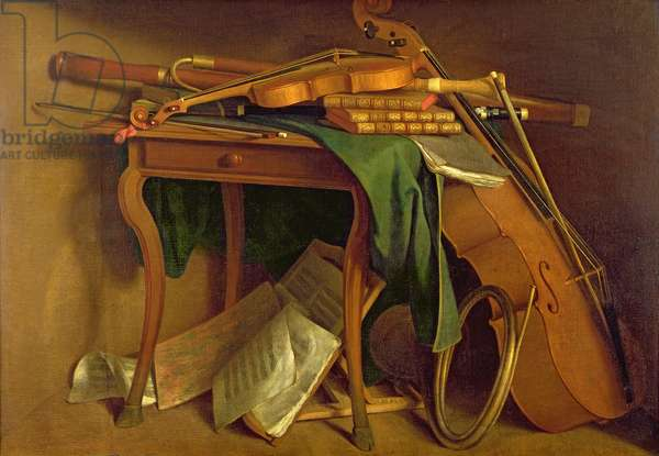 The Musician's Table, c.1760 (oil on canvas)