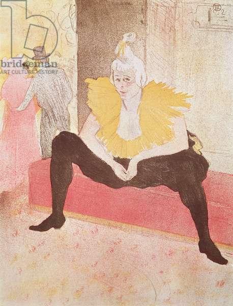 The Clowness Cha-U-Kao Seated, 1896 (colour litho)