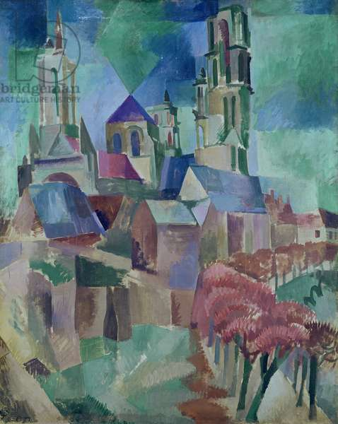 The Towers of Laon, 1911 (oil on canvas)