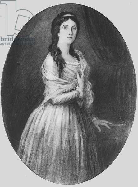 Lucile de Chateaubriand aged 25 (litho)