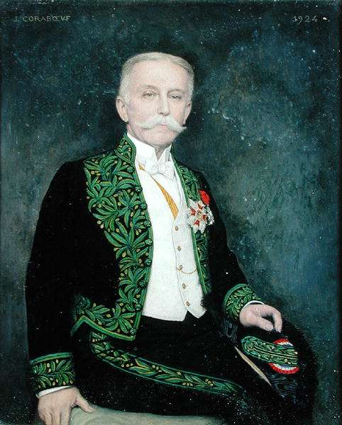Portrait of Rene Bazin (1853-1932) 1924 (oil on canvas)
