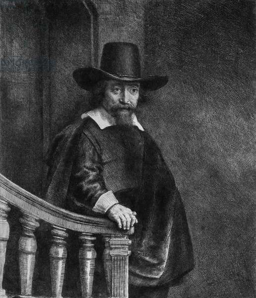 Ephraim Bonus, known as 'The Jew with the Banister' 1647 (etching) (b/w photo)