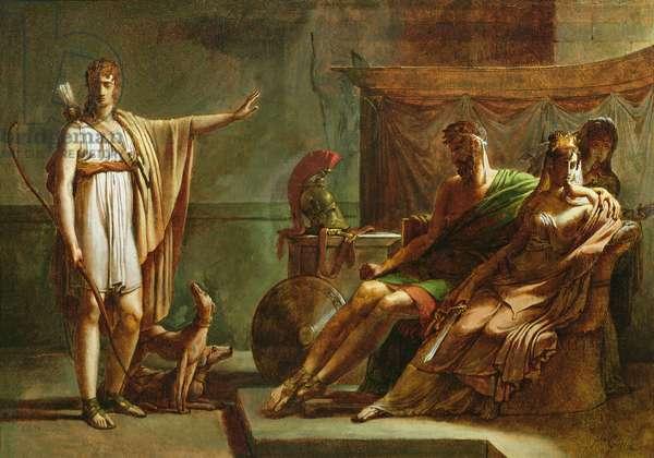 Phaedra and Hippolytus, 1802 (oil on canvas)