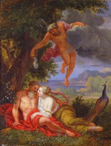 Hypnos Sending Jupiter and Juno to Sleep (oil on panel)