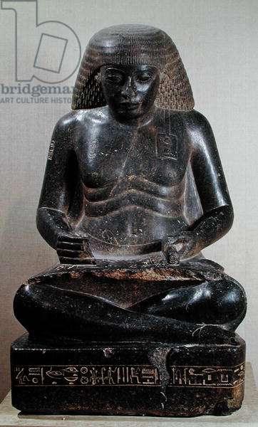 Amenhotep, son of Hapu, seated cross-legged, from the Temple of Amun, Karnak, c.1391-53 BC (granite)