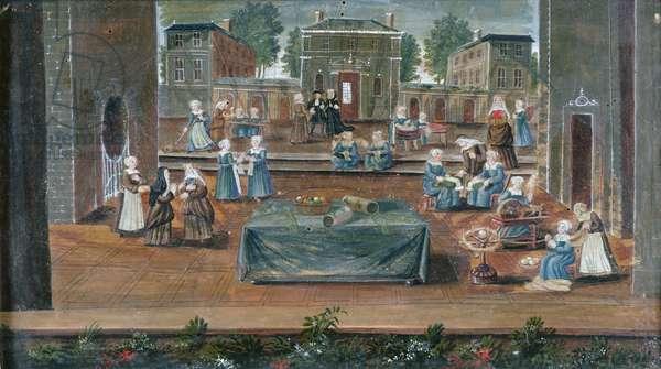 La Maison de Saint-Cyr (oil on canvas)