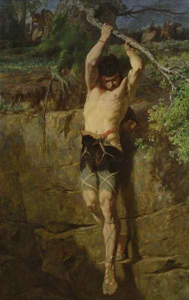 Escape of a Gallic prisoner (oil on canvas)