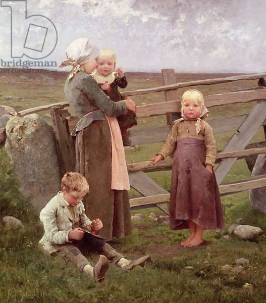The Dalby Gate, Skane, 1884 (oil on canvas)