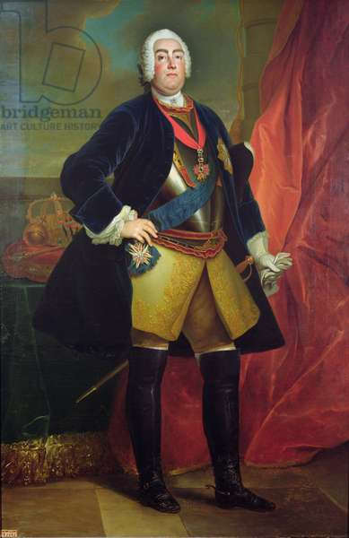 Frederick Augustus II (1696-1763) Elector of Saxony (oil on canvas)
