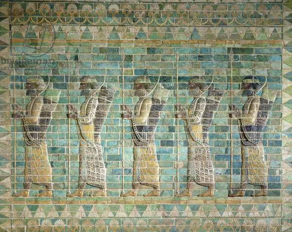 Frieze of archers, from the Palace of Darius the Great (548-486 BC) at Susa, Iran, Achaemenid Period, c.500 BC (glazed bricks)