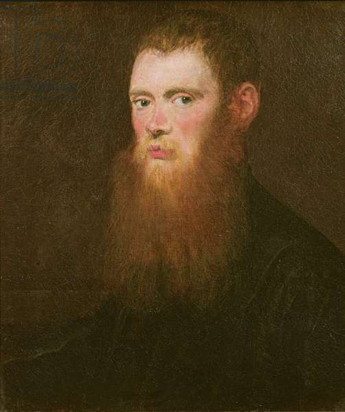 Portrait of a bearded man, thought to be Lorenzo Soranzo (oil on canvas)