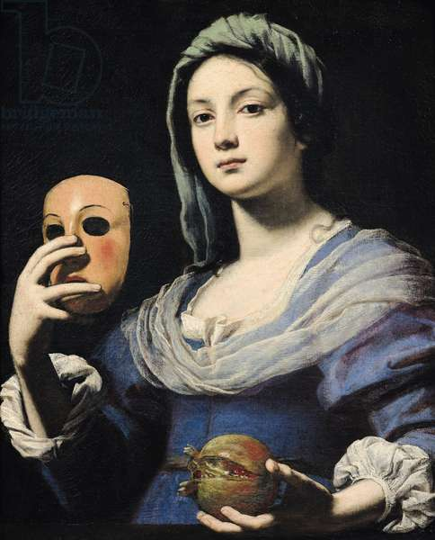 Woman with a Mask (oil on canvas)