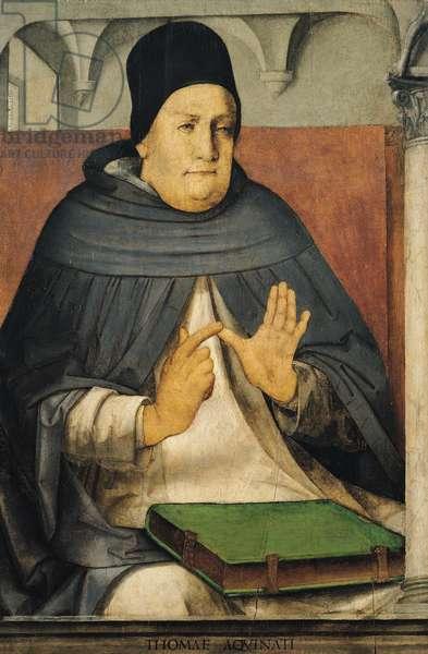 Portrait of St. Thomas Aquinas (1225-74) c.1475 (oil on panel)