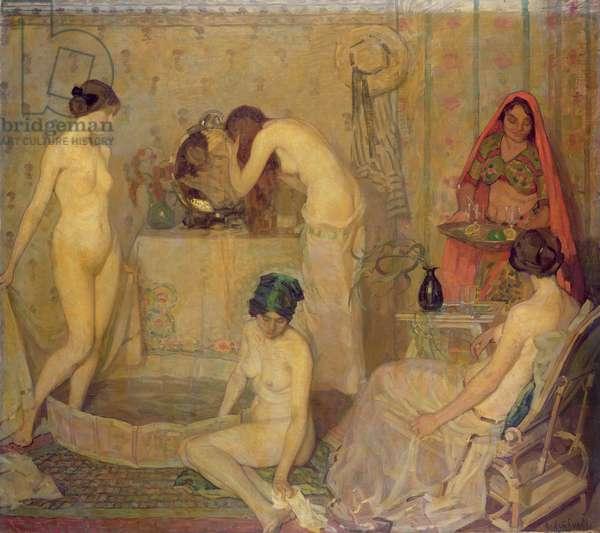 The Bath (oil on canvas)