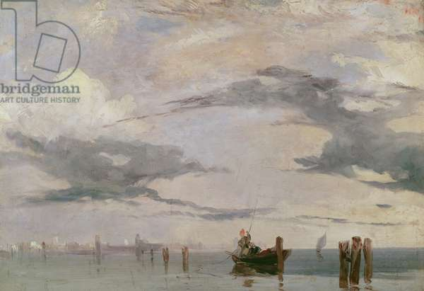View of the Lagoon near Venice, 1826 (oil on canvas)
