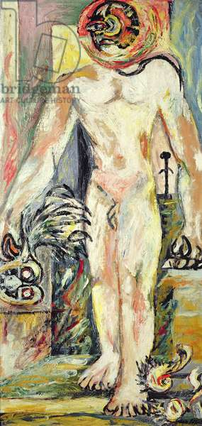 Untitled (Naked Man) c.1938-41 (oil on plywood)