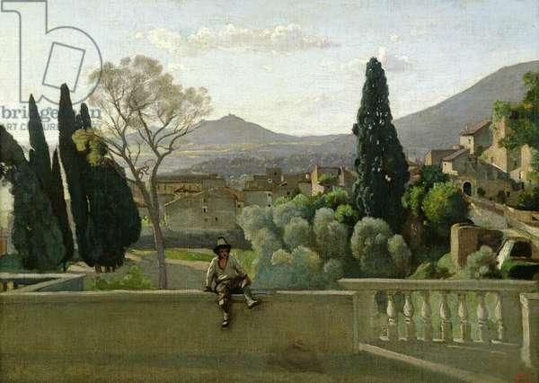 The Gardens of the Villa d'Este, Tivoli, 1843 (oil on canvas)