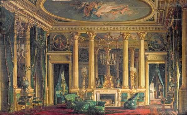 A Salon in the Hotel of Monsieur Basile Parent, Place Vendome, Paris, 1866 (oil on panel)