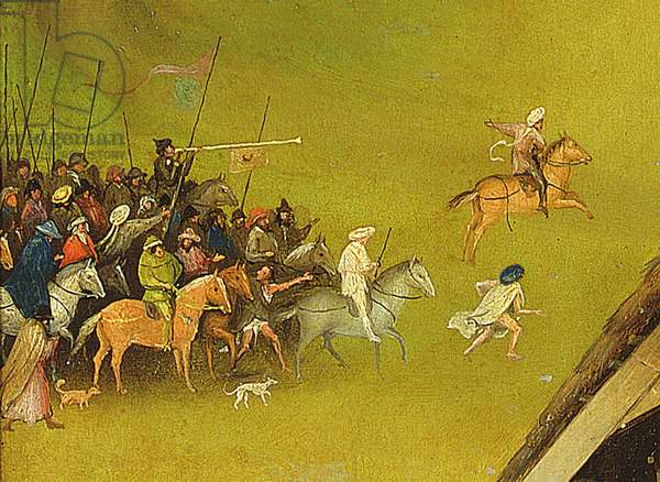 The Adoration of the Magi, detail of the background, 1510 (oil on panel) (detail of 3427)