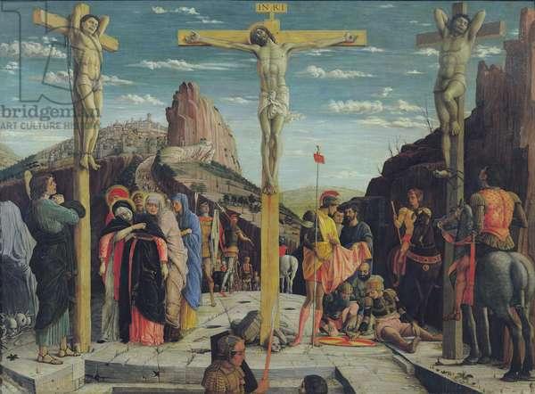Calvary, central predella panel from the St. Zeno of Verona altarpiece, 1456-60 oil on panel)