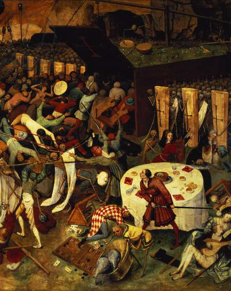 The Triumph of Death, detail of the lower right section, 1562 (oil on panel)