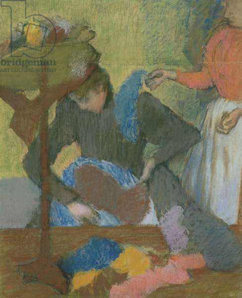 At the Milliner's, c.1898 (pastel on paper)