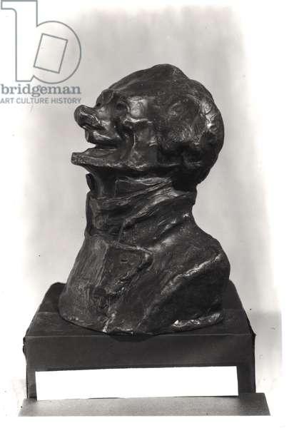 Bust of Charles Philipon (1800-62), c.1833 (bronze)