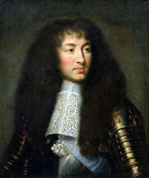 Portrait of Louis XIV (1638-1715) (oil on canvas)