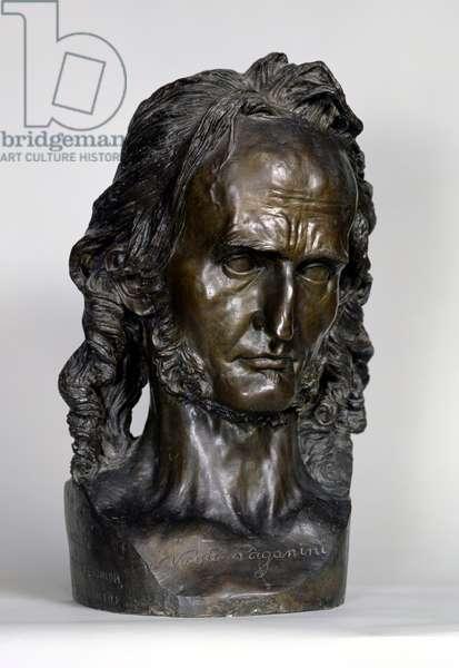 Bust of Nicolo Paganini (1784-1840) 1830 (bronze)