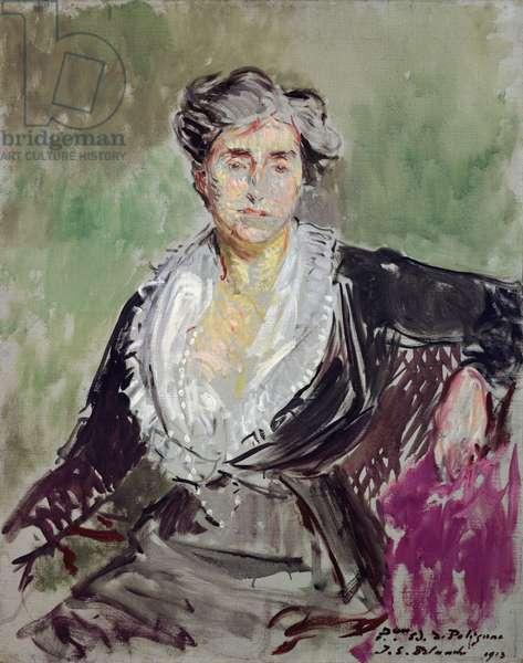 Study for a portrait of the Princess Edmond de Polignac, 1913 (oil on canvas)