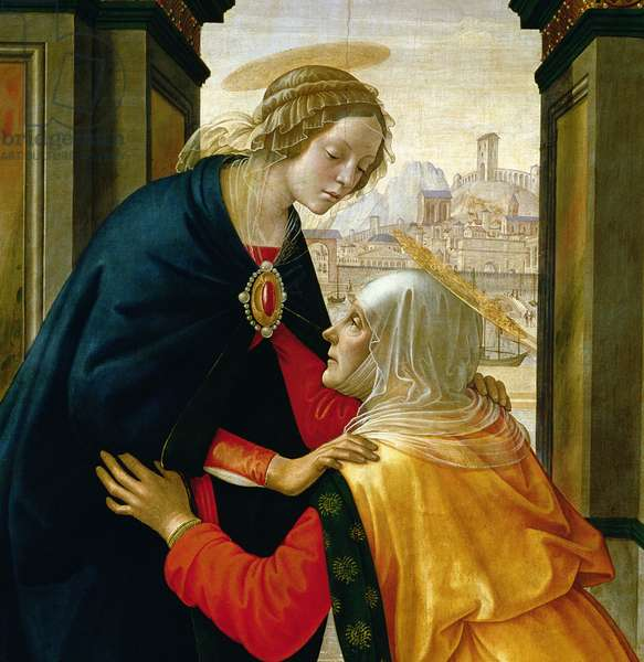 The Visitation, 1491 (tempera on panel) (detail of 192460)