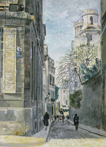 Hanging Gardens near Saint-Sulpice (w/c on paper)