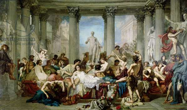 The Romans of the Decadence, 1847 (oil on canvas)