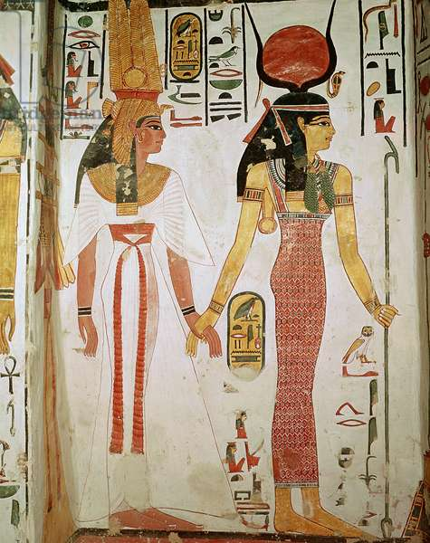 Isis and Nefertari, from the Tomb of Nefertari, New Kingdom (mural)