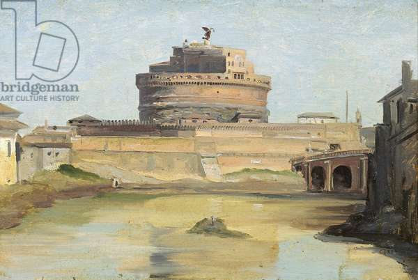 The Castle of St. Angelo, Rome (oil on canvas)