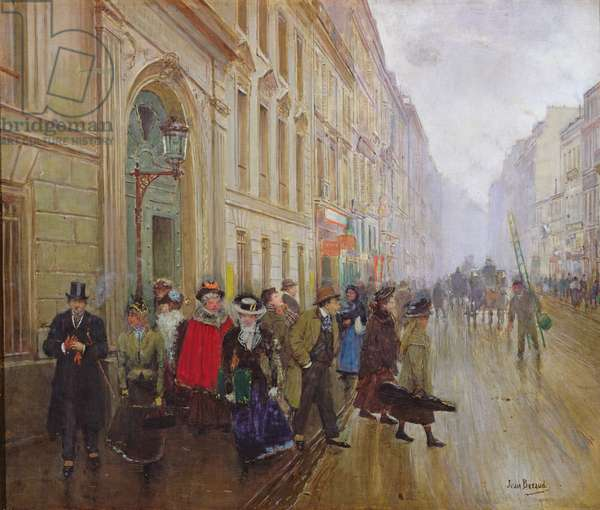 Leaving the Conservatoire, 1899 (oil on canvas)