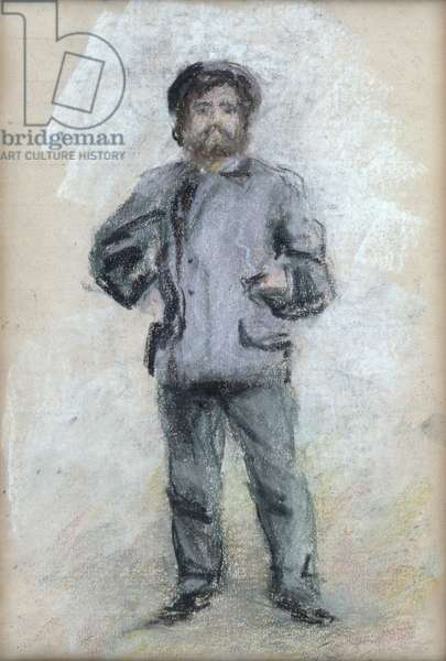 Portrait of Claude Monet (1840-1926) Standing, 1875 (pastel on paper)