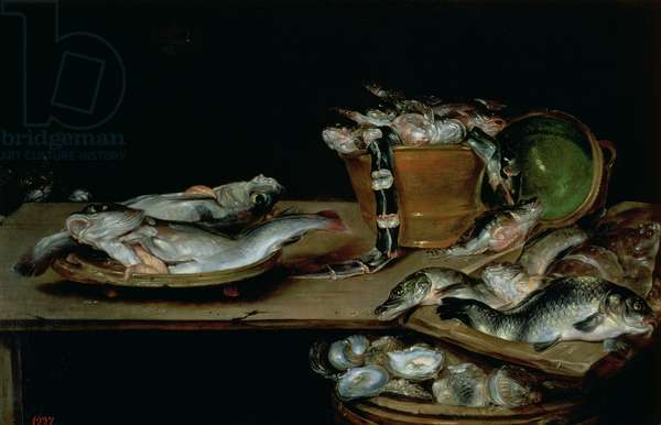 Still Life with Fish (oil on canvas)