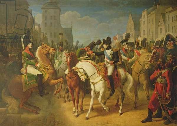 Napoleon Bonaparte (1769-1821) Decorating the Grenadier Lazareff at Tilsit, 8th Jult 1807 (oil on canvas)