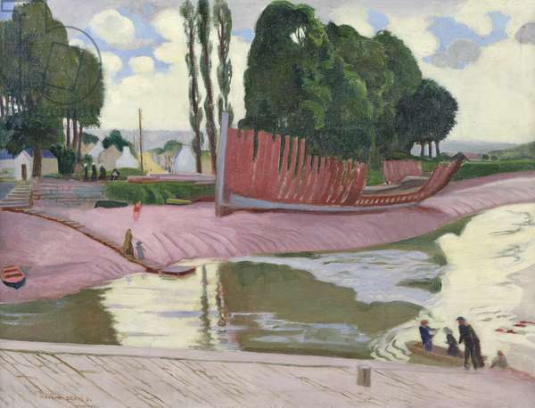 Landerneau River, 1924 (oil on canvas)