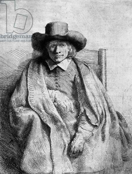 Clement de Jonghe, 1651 (etching) (b/w photo)