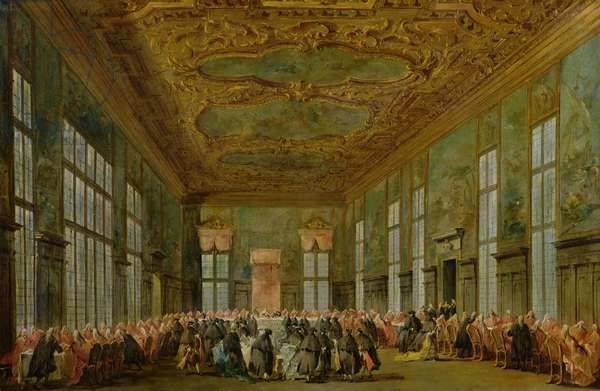Doge Alvise Mocenigo IV (1701-78) Giving a Banquet for the Ambassadors, 1776-78 (oil on canvas)