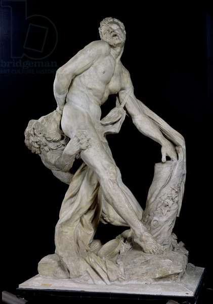 Milo of Croton Attacked by a Lion (plaster) (see also 91045)