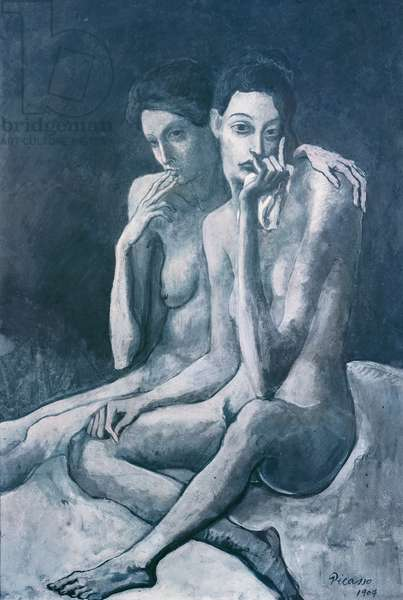 The Two Friends, 1904 (gouache on paper)