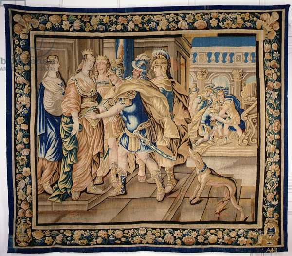 Scene from antiquity, Aubusson (tapestry)