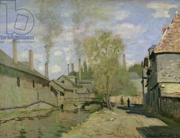 The Stream of Robec at Rouen, 1872 (oil on canvas)