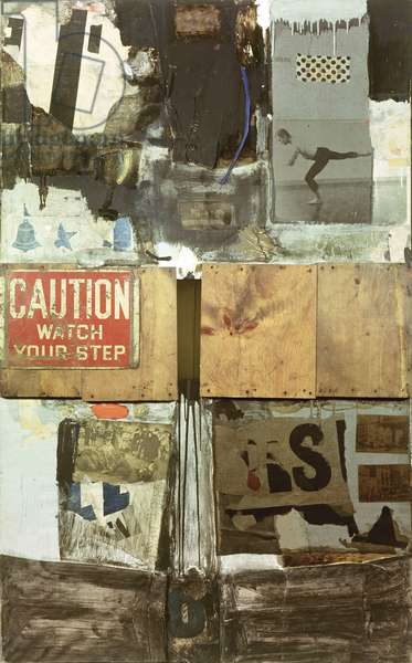 Trophy I (for Merce Cunningham) 1959 (oil & collage on canvas)