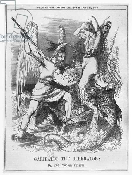 Garibaldi the Liberator, or The Modern Perseus, from 'Punch', 1860 (engraving)