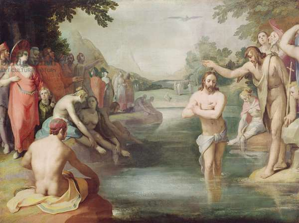 Baptism of Christ (oil on canvas)