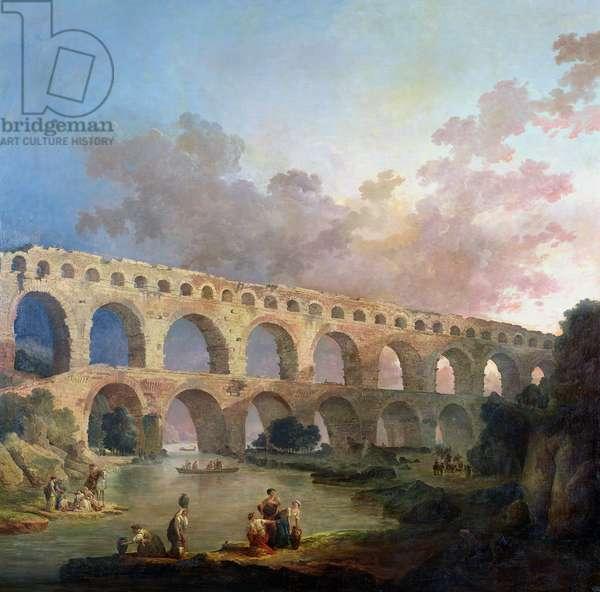 The Pont du Gard, Nimes, c.1786 (oil on canvas)